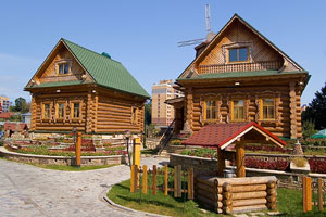 traditional Russian village in European Russia