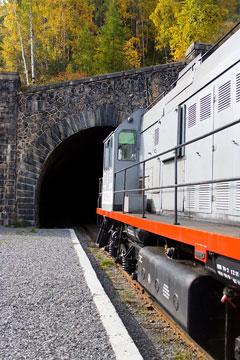 trans-siberian railway tunnel - siberia, russia